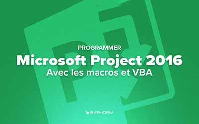 Microsoft Project 2016 avec les macros et VBA  