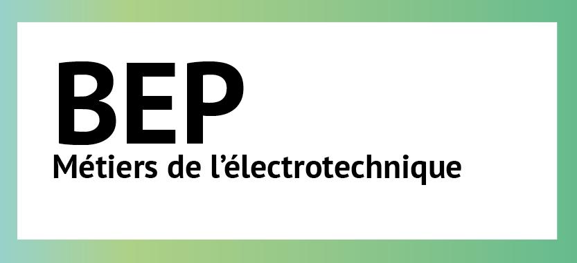 BEP Métiers de l'électrotechnique |