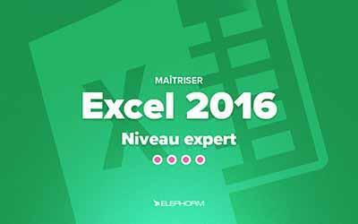 Excel 2016 - Niveau expert |