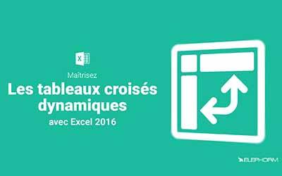 Excel 2016 - Les tableaux croisés dynamiques |