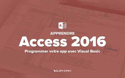 Apprendre Access 2016 - Programmer votre application avec VBA |