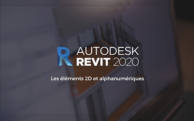 Revit 2020 - Les éléments 2D et alphanumériques |