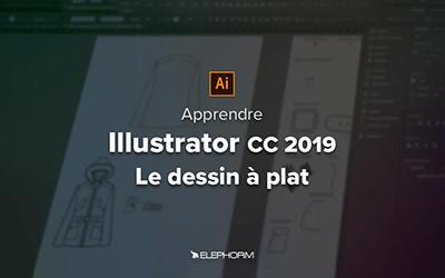 Illustrator CC 2019 pour la mode - Le dessin à plat |