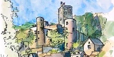 Carnet de voyage : Belcastel  