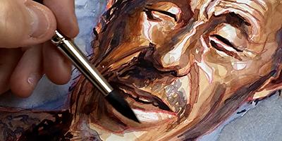 Portrait à l'aquarelle |